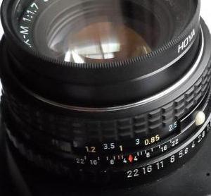 Her er optikkn indstillet på en lille blændeåbning – nemlig 22.