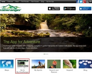ViewRangers hjemmeside.