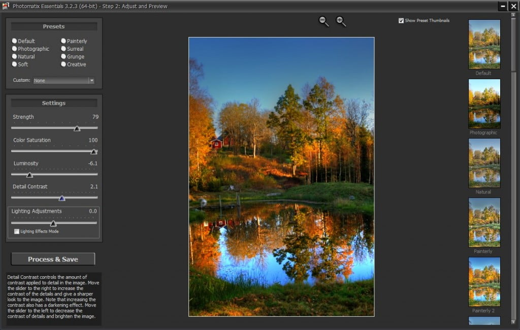 Tonemapping i Photomatix Essentials.