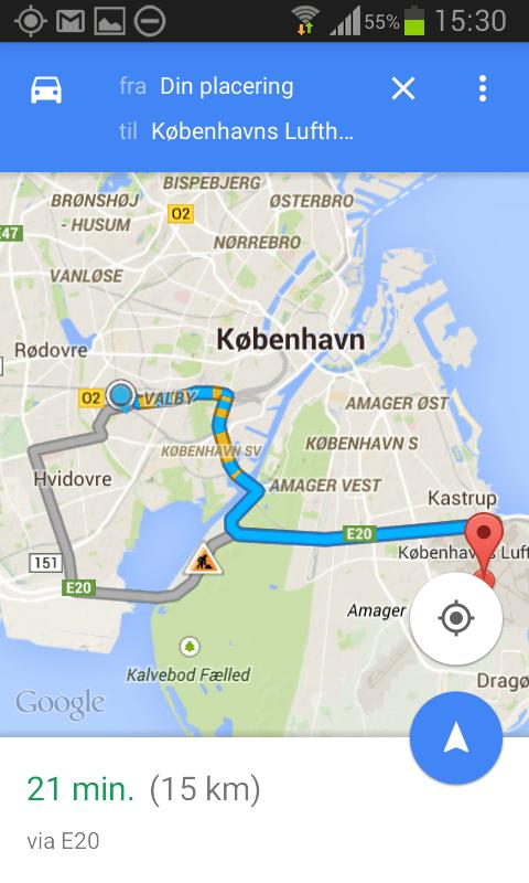 gps navigation med google maps. Black Bedroom Furniture Sets. Home Design Ideas