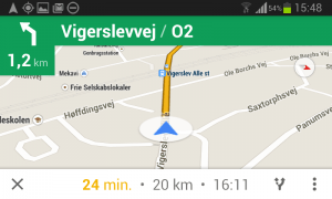 Her er Google Maps vist på langs.