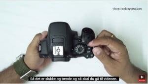 Anmeldelse af Canon-kamera fundet på Youtube (på engelsk). Der er tilmed mulighed for engelske undertekster (og danske maskinoversatte undertekster).