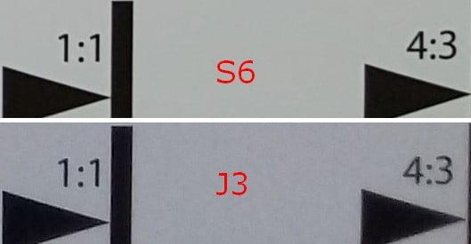 Samsung Galaxy S6 tegner skarpere – det ses især i hjørnerne.