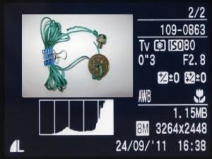 Visning af EXIF-data i kameraet