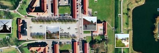Kastellet vist på Google Maps