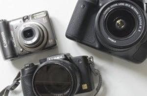 Tre kameraer