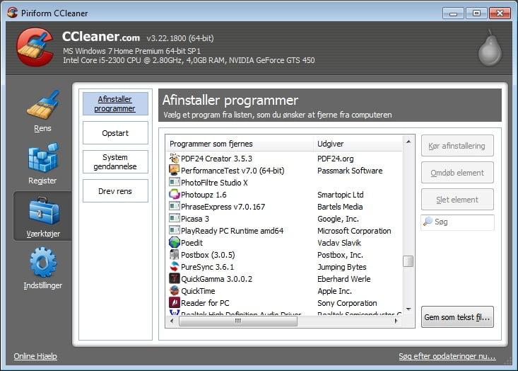 ccleaner - værktøjer