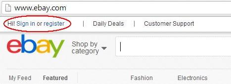 """Klik på """"Register"""", hvis du ikke er oprettet som kunde. Ellers klik på """"Sign in""""."""