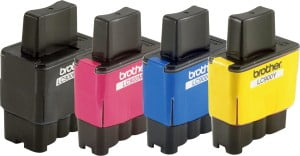 Toner til en Brother inkjet-printer.