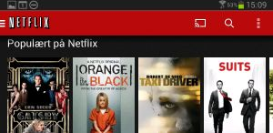 Netflix med Chromecast-ikon.