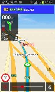Krak navigation i demo-mode.