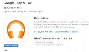 Google Play Musik i App Store.