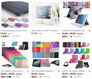 Det er nemt at findes et cover til iPad på eBay.